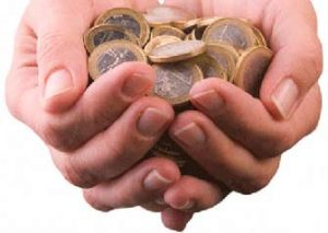 две шепи с монети