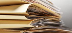 Купчина папки с документи