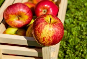 щайга с ябълки