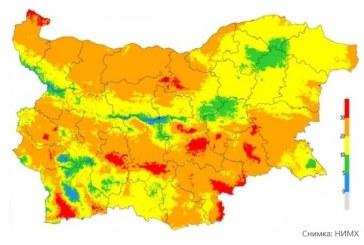 Опасност от пожари е обявена за 9 области в страната
