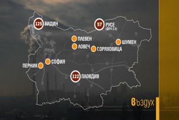 Силно замърсен е въздуха във Видин, Пловдив и Русе