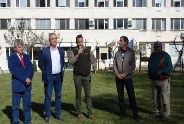 Инж. Мирослав Маринов присъства на изложение на ловни трофеи от благороден елен