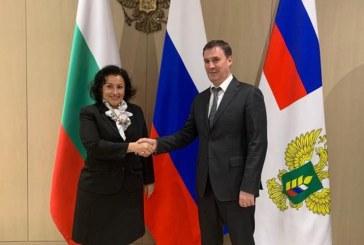 Министър Танева се срещна с руския си колега