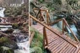 Вандали разрушиха новоизградения мост в Природен парк – Витоша